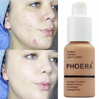 PHOERA 10 Colors Matte Concealer Liquid Foundation Full Coverage Longlasting HQ