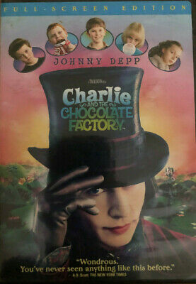 Charlie and the Chocolate Factory (DVD, 2005, Full Frame)- Very Good Condition