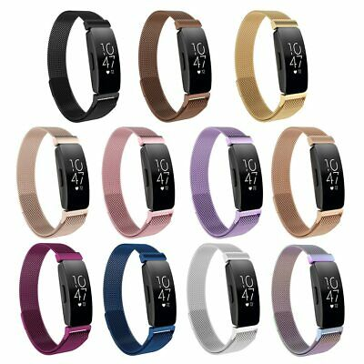 Magnetic Milanese Metal Wrist Band Bracelet Strap For Fitbit Inspire HR Durable