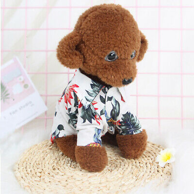 Pet Dog Hawaiian Shirt Beach Clothes Vest Floral Printed Top For Small Large Hot