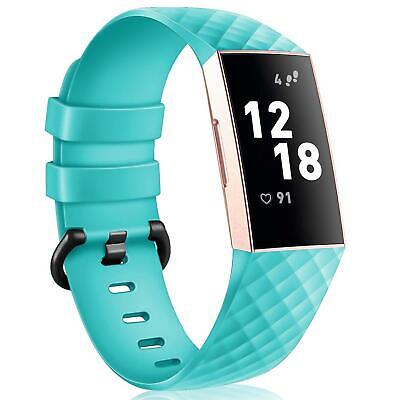 Fitbit Charge 3 Taille L Remplacement Silicone Bracelet Montre Sport Bande