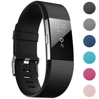 Fitbit Charge 2 Taille L Remplacement Silicone Bracelet Montre Sport Bande