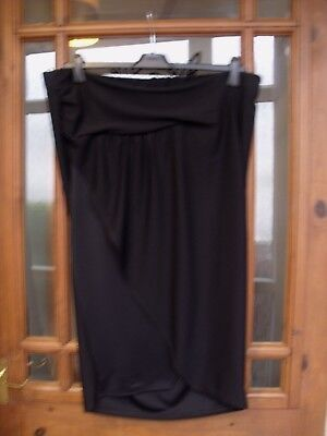 NEXT Black Maternity Wrap Skirt Size 10 RRP £24