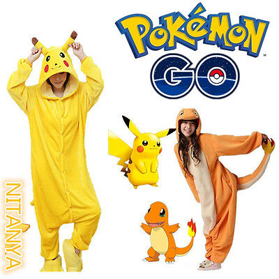 Adulte Enfant Pikachu Pyjama Pokemon Charmander Animal Costume Vêtements de nuit
