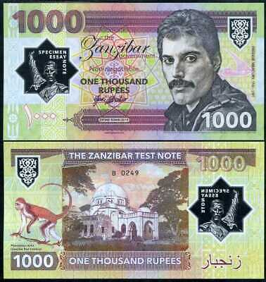 Zanzibar 1000 Rupees 2019 Tanzania Privated Issued Clear Polymer Freddie Mercury