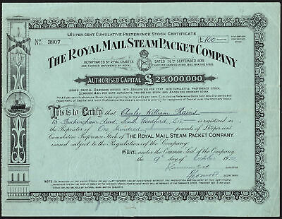Royal Mail Steam Packet Co., 6½% cumulative preference stock, 1923