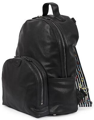Pink Lining SHOREDITCH VEGAN LEATHER BACKPACK - BLACK Baby Changing BN