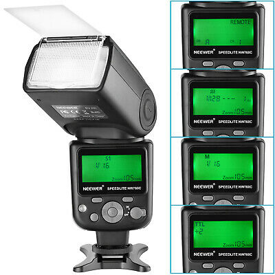 NW760 Remote TTL Flash Speedlite with LCD Display for Canon 7D 5D Mark II III