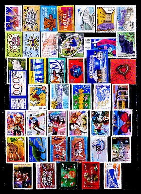 France: 1990'S - 2000'S Stamp Collection 40+ Different