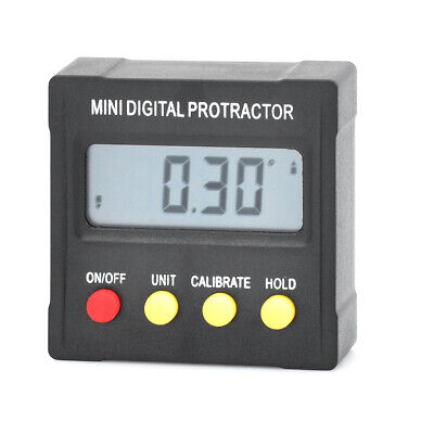 Mini digital protractor inclinometer clinometer angle finder Upright Magnet 360˚
