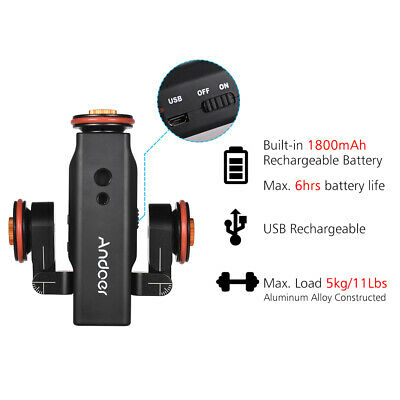 Andoer L4 PRO Motorized Camera Video Dolly Electric Track Remote for Canon B1Z5