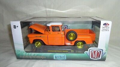 500 pieces,1:24 scale NEW m2 machines chase gold 1958 CHEVROLET APACHE STEPSIDE