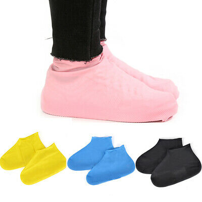 Reusable Latex Waterproof Shoe Covers Anti-Slip Overshoes Rubber Rain Boots Case