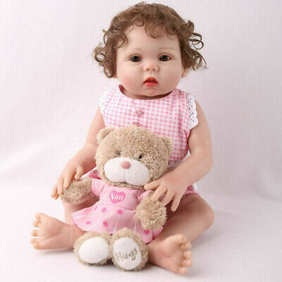 "16"" Full Body Reborn Baby Girl Dolls Silicone Vinyl Handmade Xmas Gifts Doll"