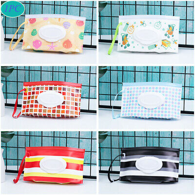 Flip Cover Wet Wipes Bag Cosmetic Pouch Stroller Accessories Tissue Box