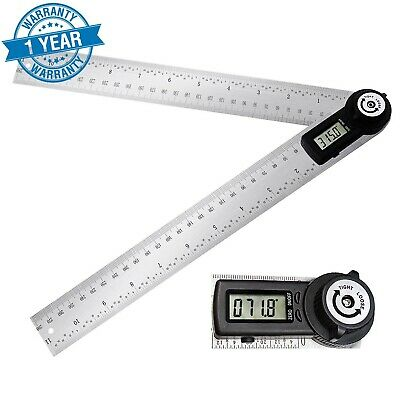 ARESOUL Digital Angle Finder Protractor 7 Inch Stainless Steel Angle Find... New