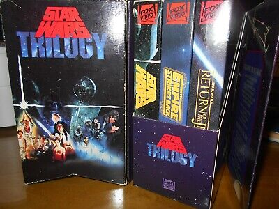 Star Wars Trilogy Box Set 1992 VHS FOX Theatrical Version Complete