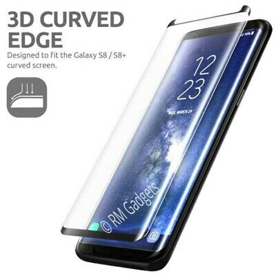 For Samsung Galaxy S8 - 100% Genuine Tempered Glass Screen Protector Black