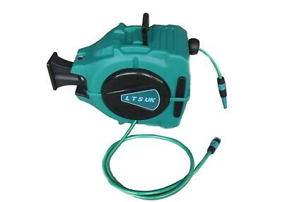 20m Retractable Auto Rewind Garden Hose Pipe Reel Outdoor reduced to clear