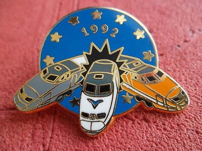 1Pin's Ballard Collection De 3 Tgv Sncf En Metal Dore 1992 Creation.c.bazille