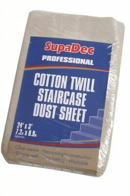 SupaDec Cotton Twill Staircase Dust Sheet 24' x 3' (7.3m x 0.9m) approx DIY
