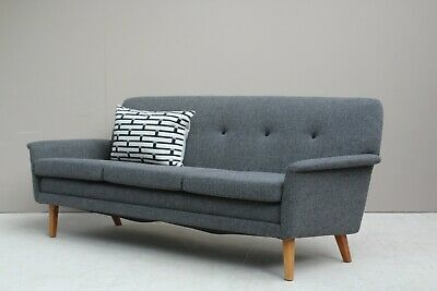Refurbished Danish Midcentury Folke Ohlsson for DUX Three Seater Sofa 60s