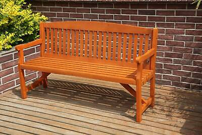BIRCHTREE Garden Bench 3 Seater Chair Wood Patio Deck Patio Park Outdoor WGB02