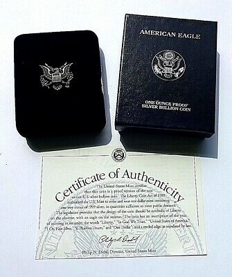 Cased U.S.A.2000 Walking Liberty mm P Fine Silver Proof One Dollar COA