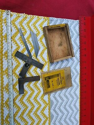 "Vintage Moore & Wright 4"" Adjustable Square, Nice Old Piece Good Condition Boxed"