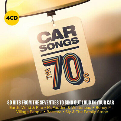 Various Artists : Car Songs: The 70s CD Box Set 4 discs (2019) Amazing Value
