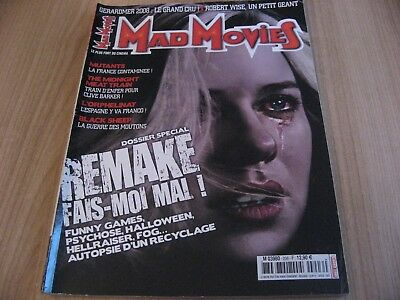 Mad Movies 206 Dossier Special Remake Funny Games Hellraiser Fog Psychose