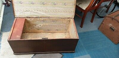 Pine storage chest trunk blanket box