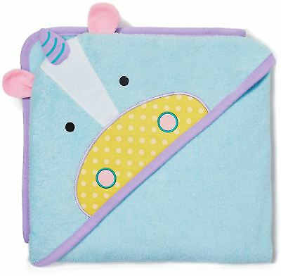 Skip Hop ZOO HOODED TOWEL - UNICORN Baby Hooded Bath Accessory Towel BN