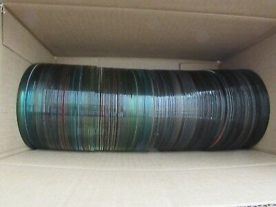 LOT OF 200 CD's DVD's for ARTS CRAFTS PROJECTS CRAFTING DECOR USED