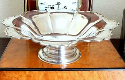417g Large Solid Silver Pedestal Bowl / Tazza - Bham 1944 - JB Chatterley & Sons