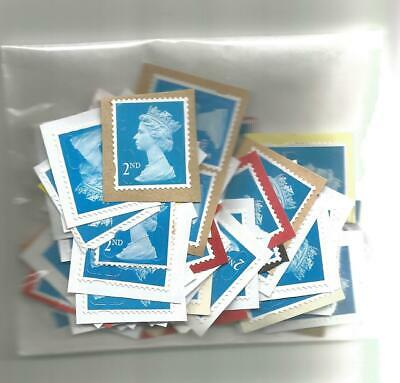 100 x 2nd Class Unfranked stamps ( lot 14 )