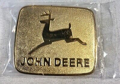 John Deere Bright Goldtone Dress Belt Buckle