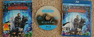 NEW! How To Train Your Dragon 3 The Hidden World  BLU-RAY Disc Case Sleeve ONLY