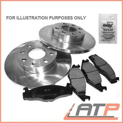 Brake Discs Solid Ø238,5 + Set Pads Rear Honda Accord Ca Mk Iii 3 2.0 85-89