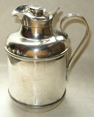 Vintage Glass-Insulated Silver-Plated 1-Quart Pitcher Made in Italy by Standard