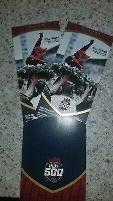 (2) 2019 Indy 500 Race Tickets PADDOCK SEC 13 Row MM Seats 5 and 6.