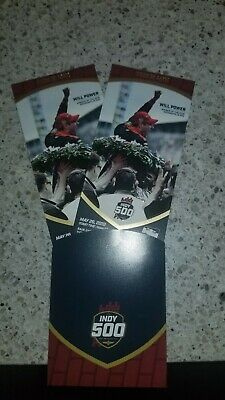 (2) 2019 Indy 500 Race Tickets PADDOCK SEC 13 Row MM Seats 7 and 8