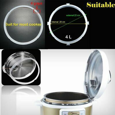Cookware Replacement Clear Silicone Lid Sealing Ring Pressure Cooker Gaskets