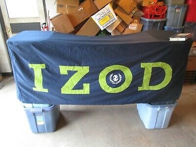 IZOD #2 Advertising Table Cloth Cover Store Display about 72 x 30 x 27 1/2