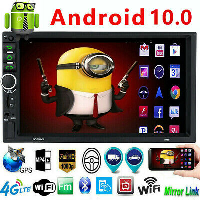 """Android 8.1 Car Stereo GPS Navigation Radio Player Double Din WIFI 7"""" Inch"""
