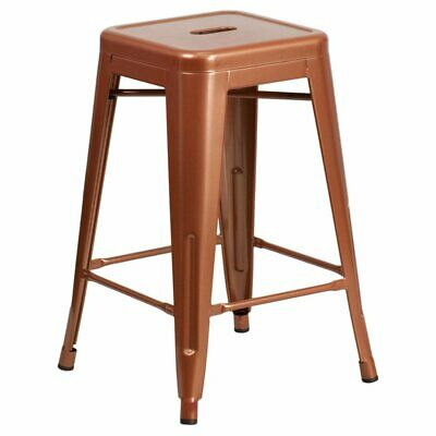Flash Furniture 24 in. Square Backless Indoor-Outdoor Counter Height Stool