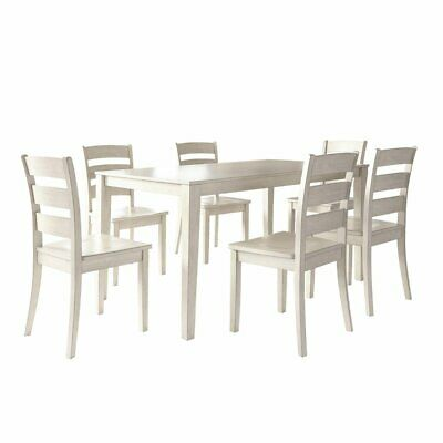 Weston Home Lexington 7 Piece Dining Set with Ladder Back Chairs
