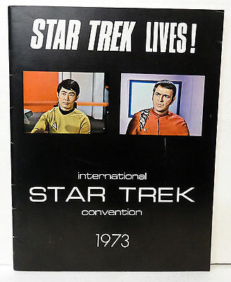 Star Trek International Convention Program Book 1973 Signed by George Takei