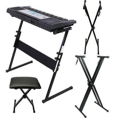 "Black friday Glarry ""X"" ""Z"" Piano Keyboard Stand Stool Bench Electric Organ Rack"