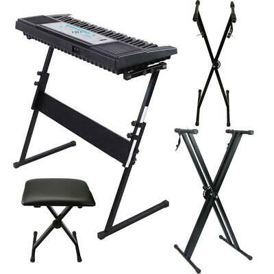 "Glarry ""X"" ""Z"" Piano Keyboard Iron Stand Electric Organ Rack Folding Heavy Duty"